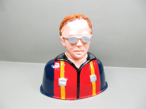 Resin Civilian Pilot 89mmx88mmx55mm 0.60~0.90 size